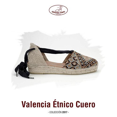 La alpargata Valencia Étnico Cuero de Dolores Nieto