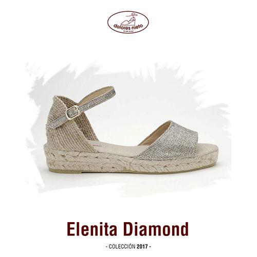 La alpargata Elenita Diamond de Dolores Nieto
